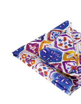 Blue and purple bright pocket square