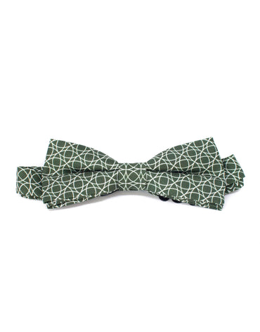 Deep green silk hand-made bow tie