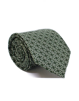 Mr. Manaus Deep Green Circle Chain Tie