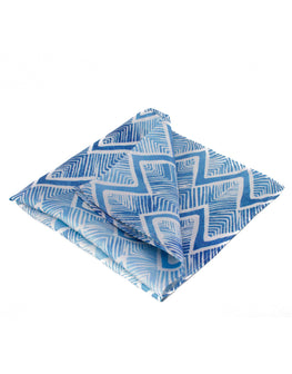 Grecian print silk pocket square