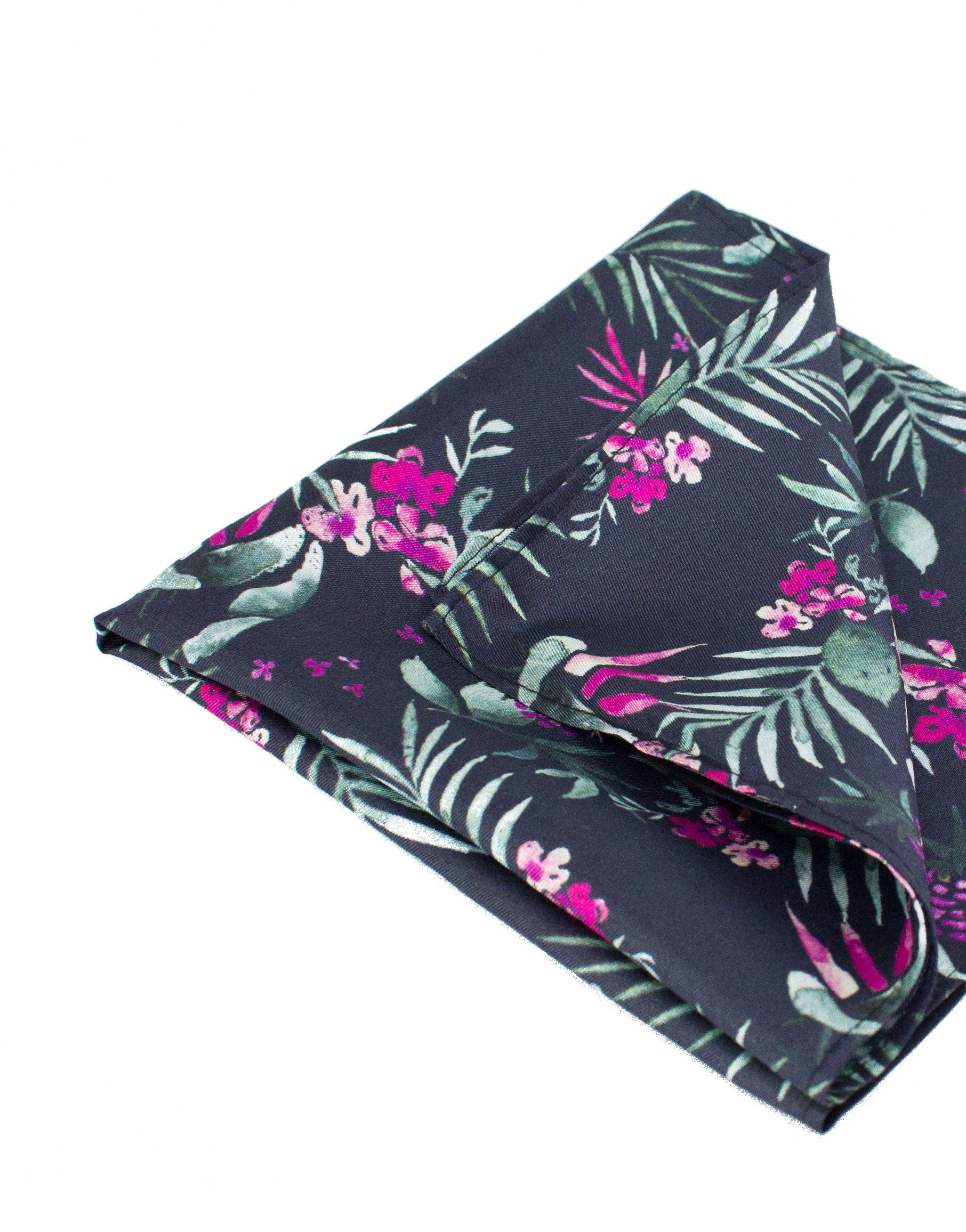 Tropical silk pocket square