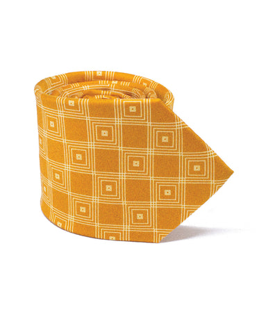 Stand out in the elegant orange hand made tie