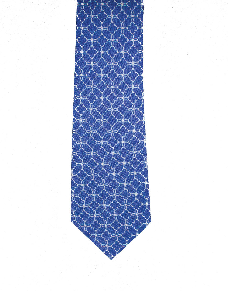 Stylish men's silk tie accessory in dusty blue