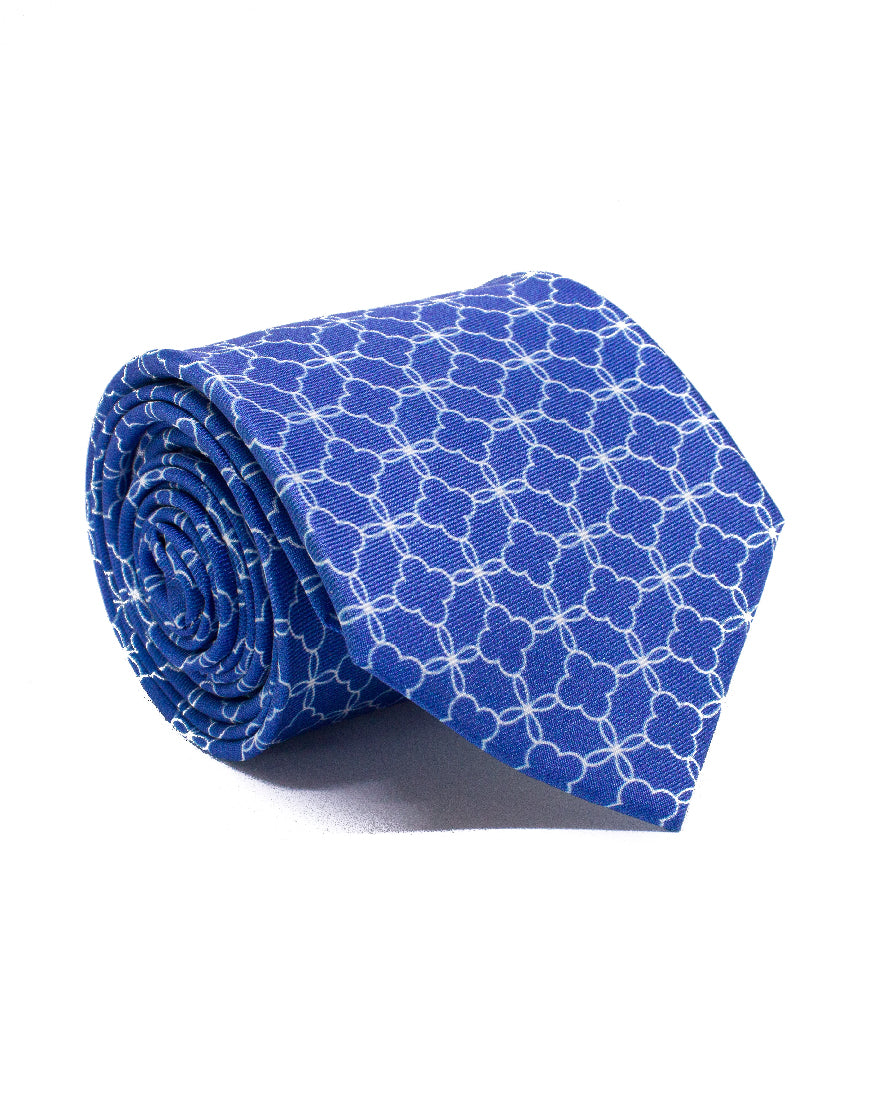 Mr. Patras Dusty Blue Flower Chain Tie
