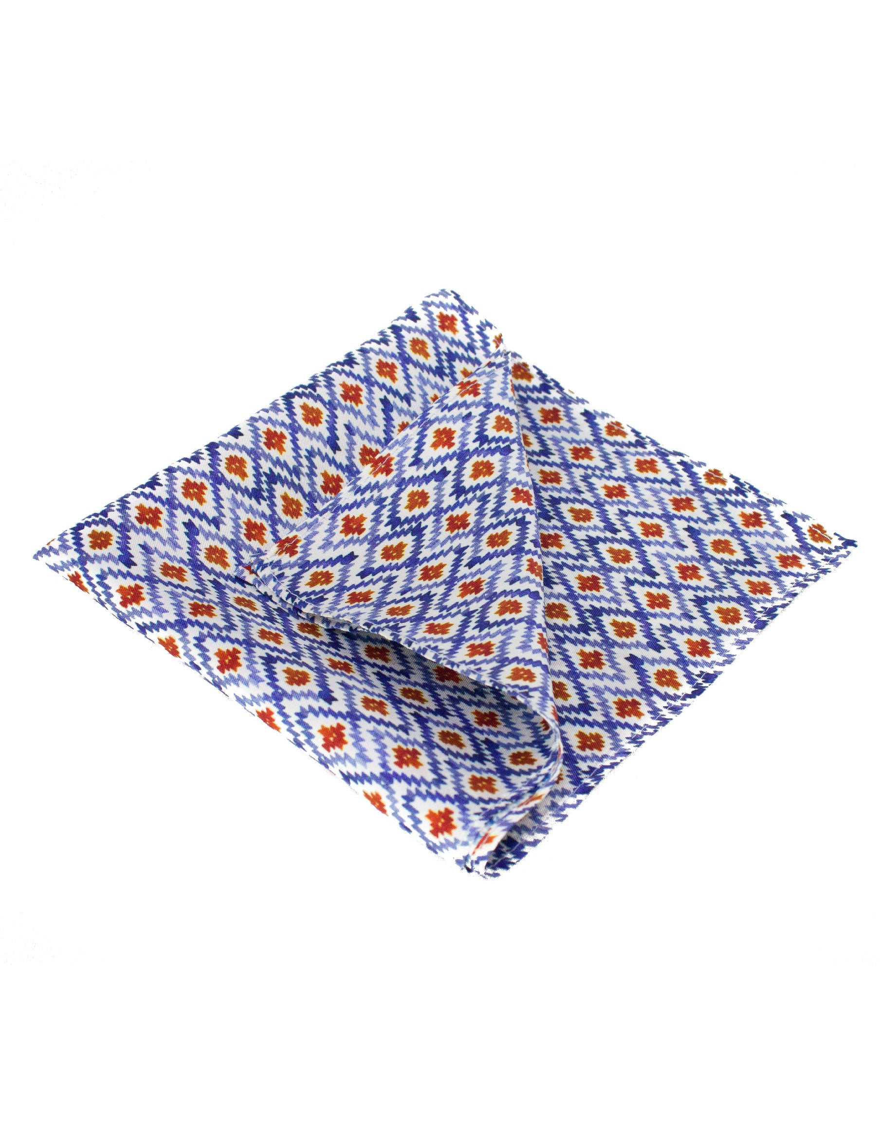 Fashionable men's silk pocket square