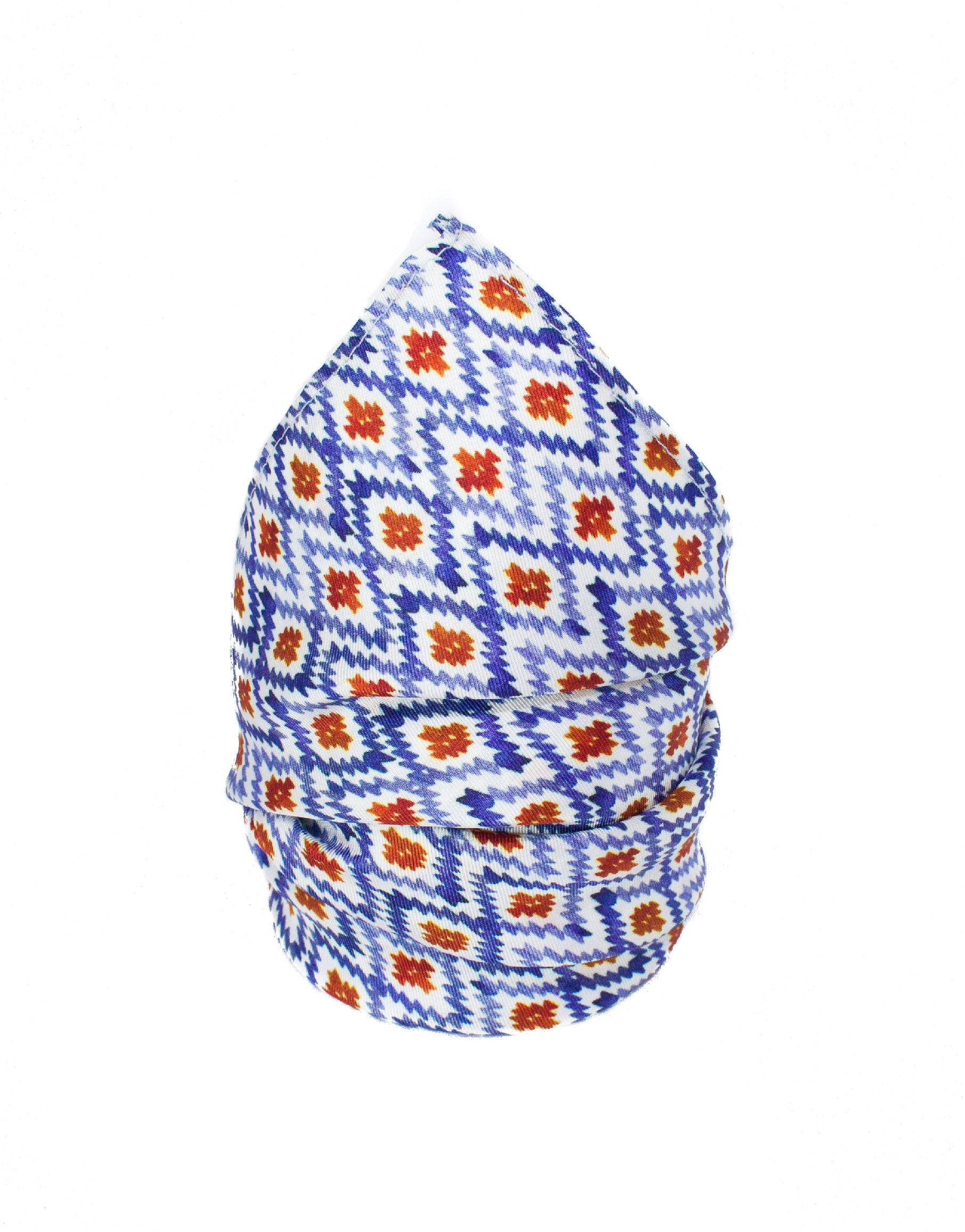 Blue, white and red men's pocket square accessory