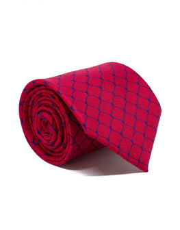 Mr. Shanghai Red Chain Silk Tie