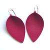 Summer Petal Leather Earrings