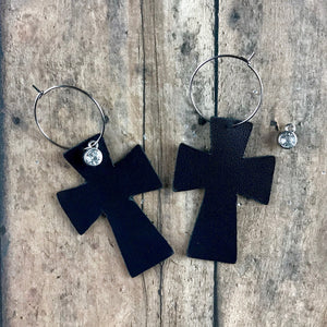 Interchangeable Leather Earrings