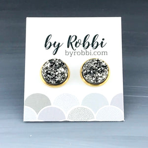 8mm/12mm Metallic Druzy Studs