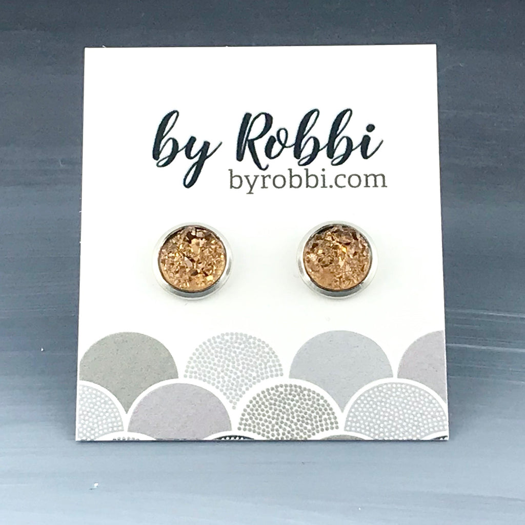8mm/12mm Neutral Druzy Studs