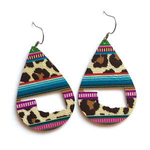 Wild Serape State Faux leather Earrings