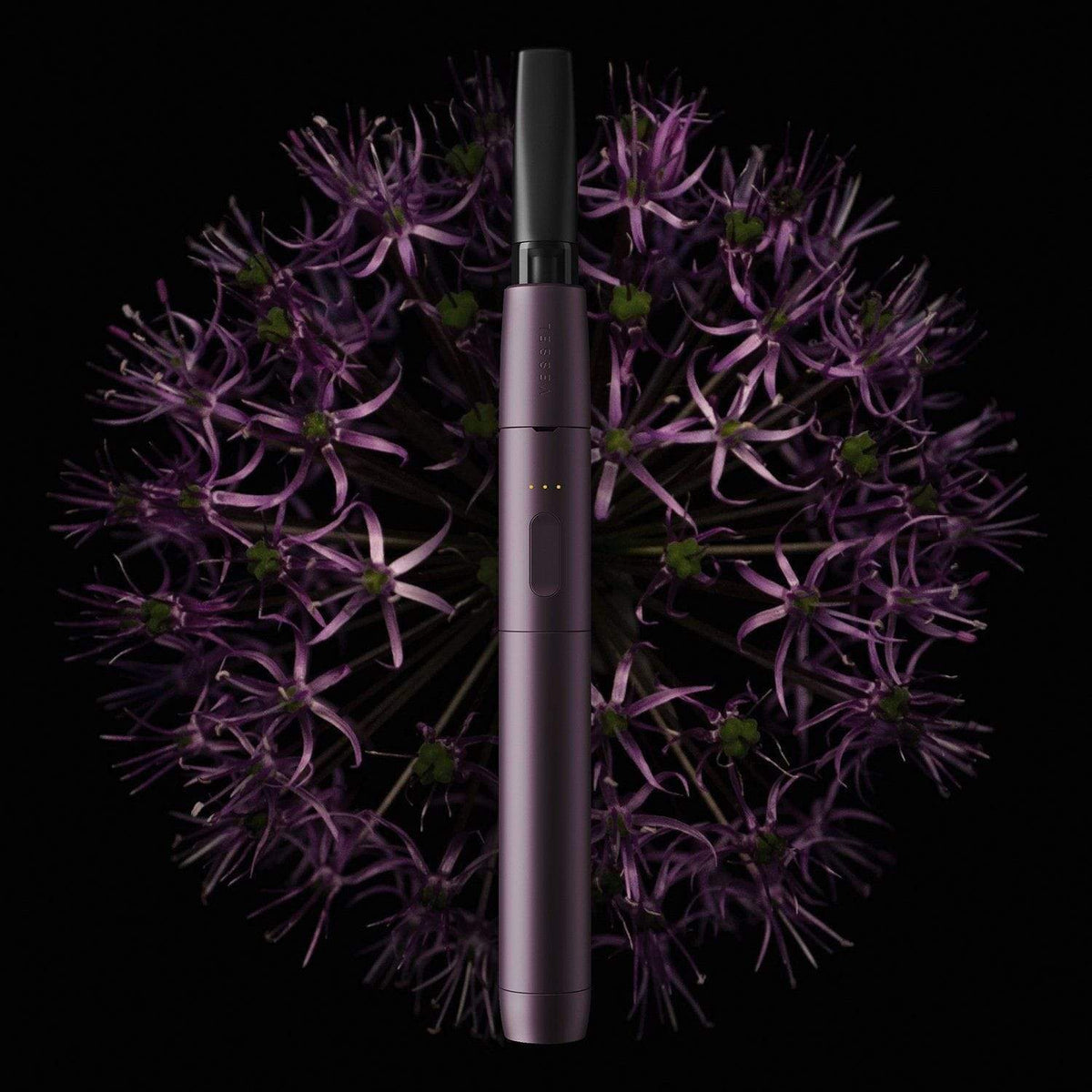 Purple Vape Pen Battery with Flowers
