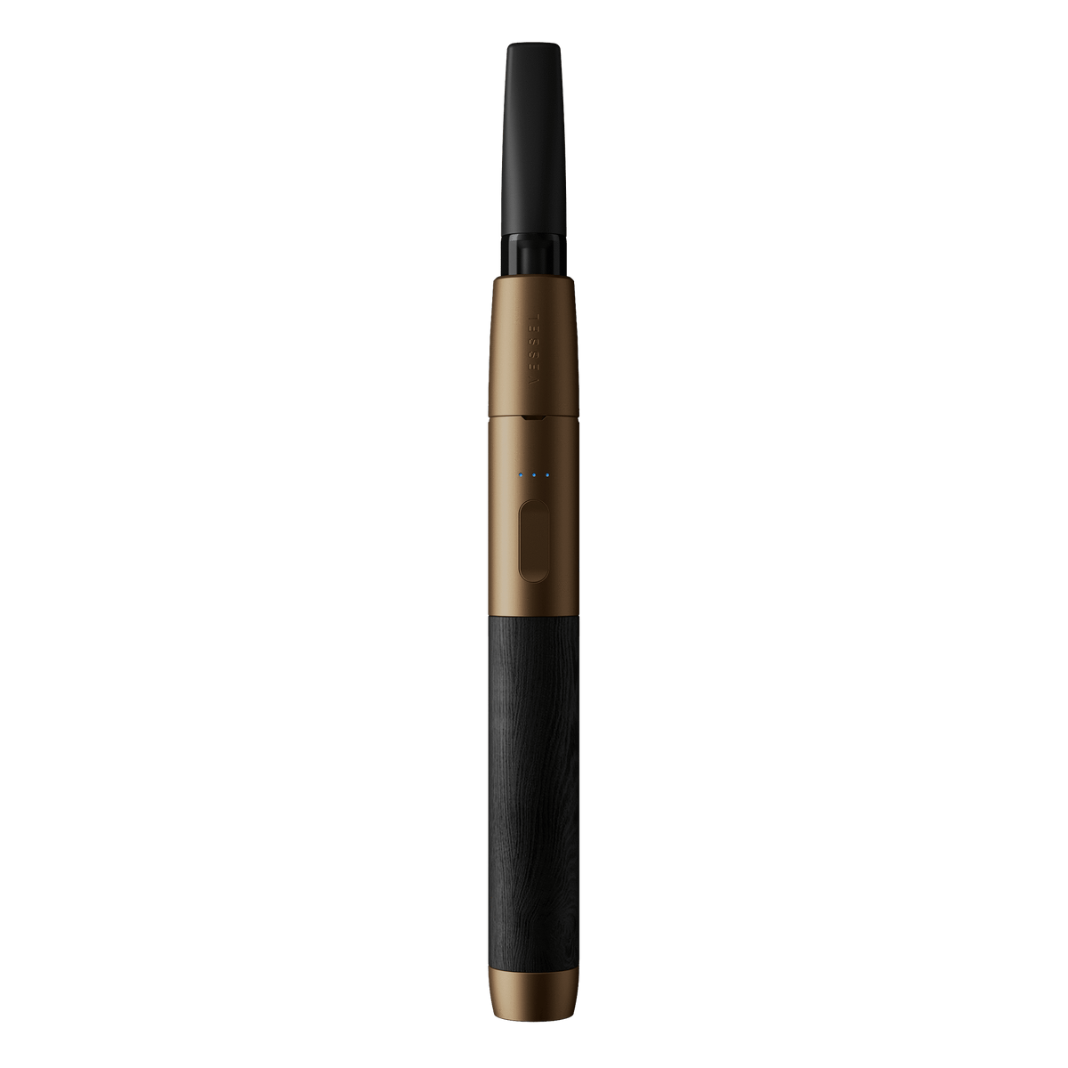 Black Wood and Bronze Vape Pen Battery