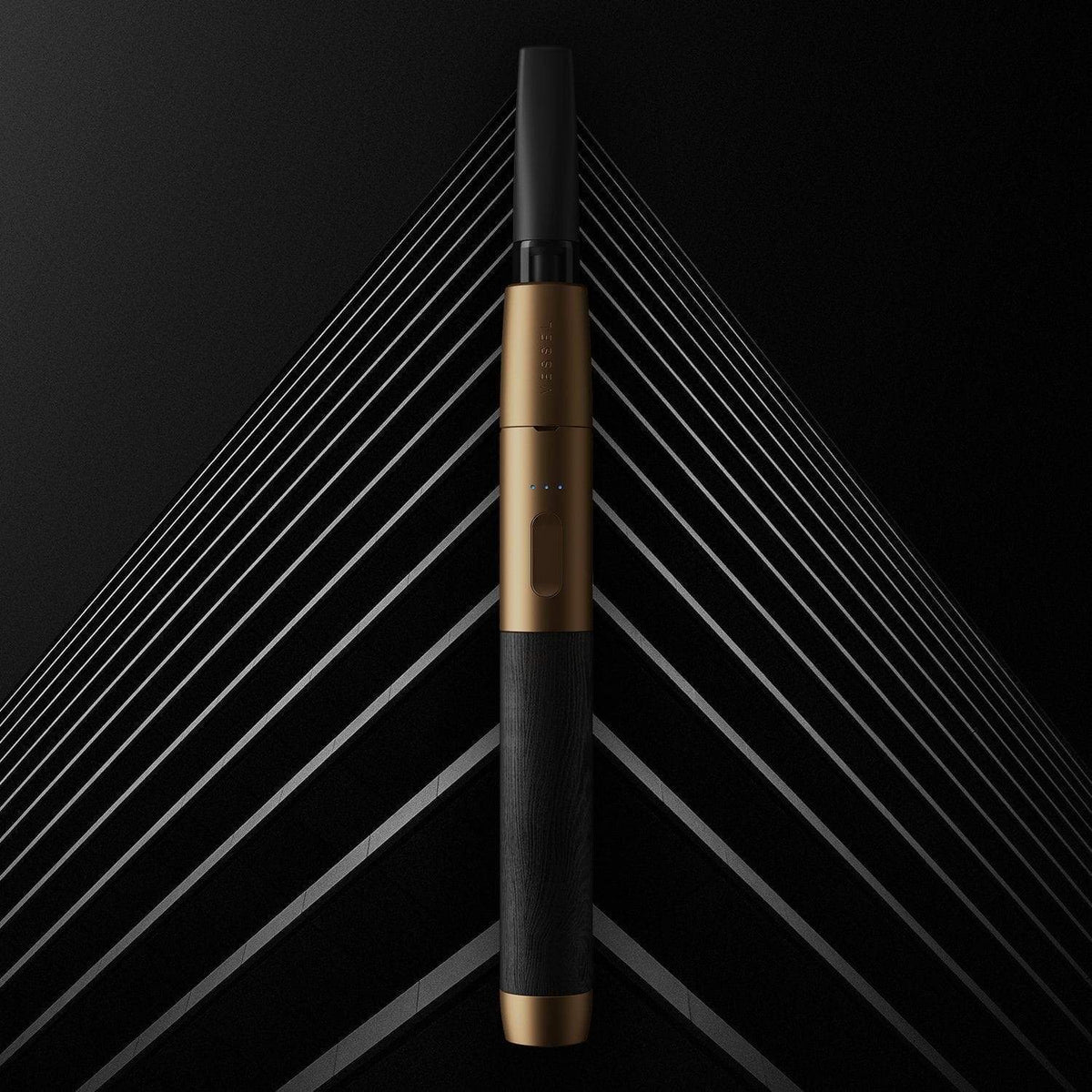 Bronze Black Wood Vape Pen Battery CGI Background