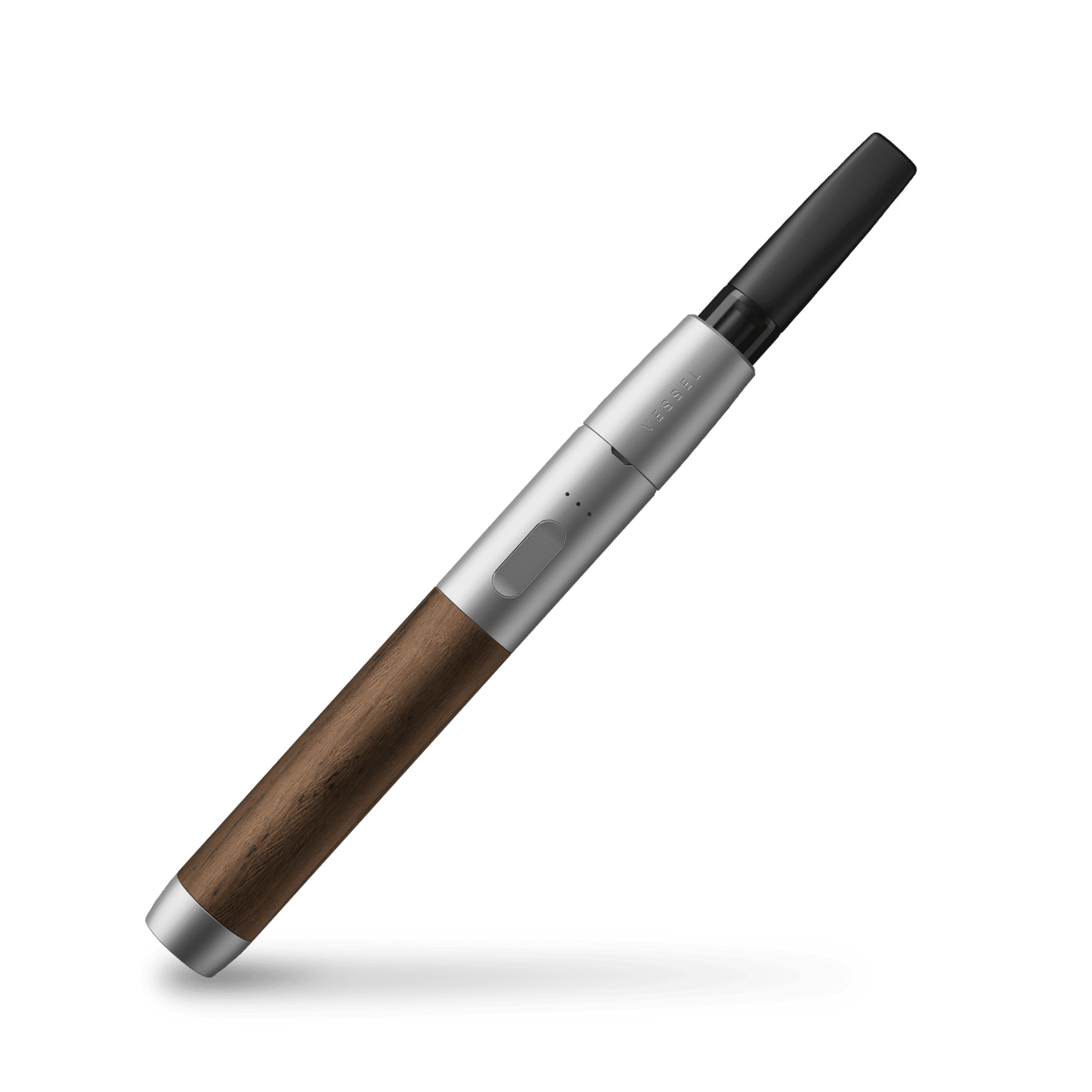 Vessel Wood Vape Pen Battery in Silver with Walnut