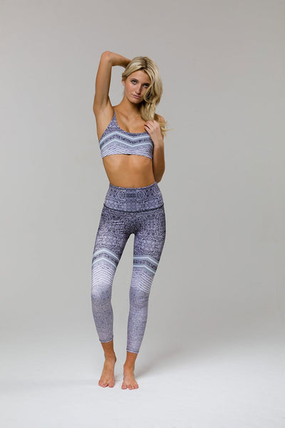 High Rise Legging - Graphic Chevron