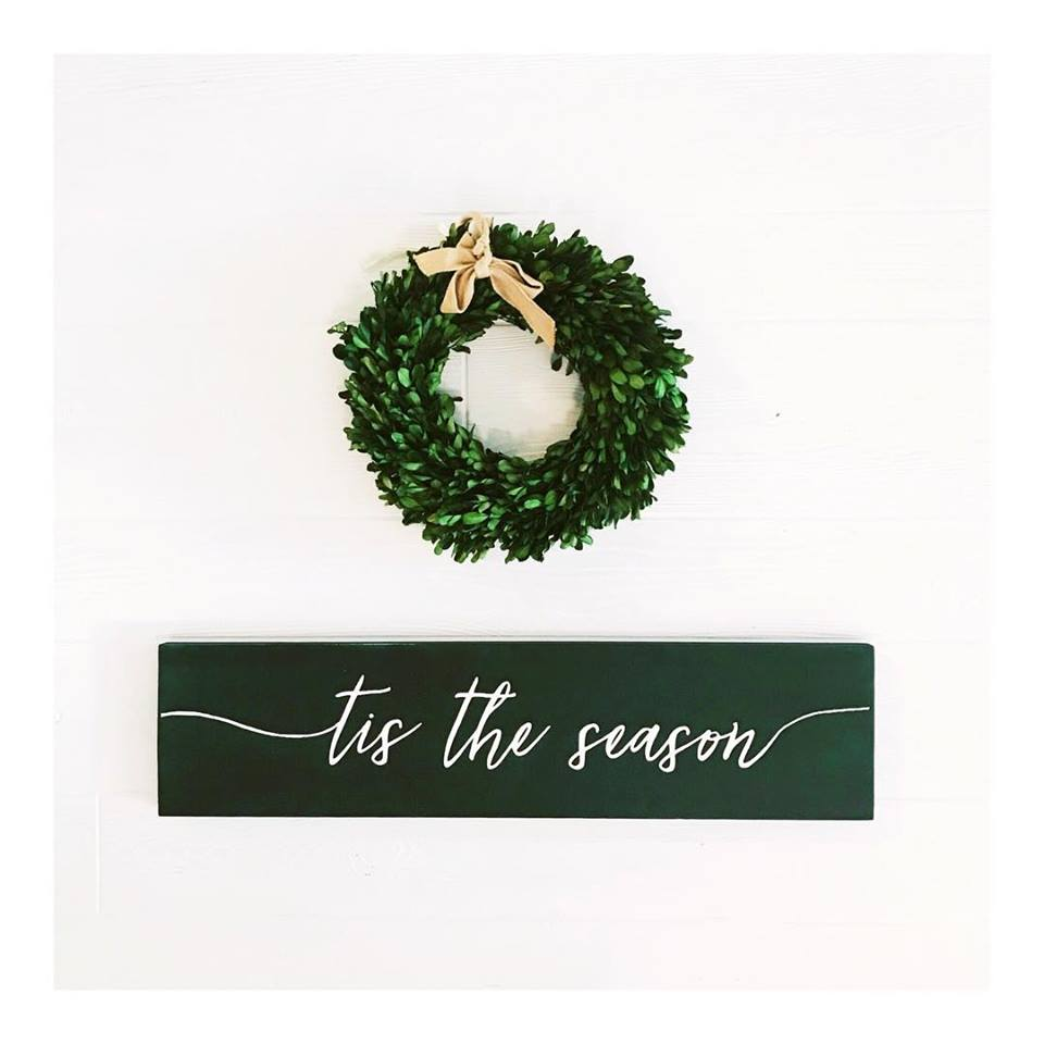 'Tis the Season Handcrafted Wooden Sign
