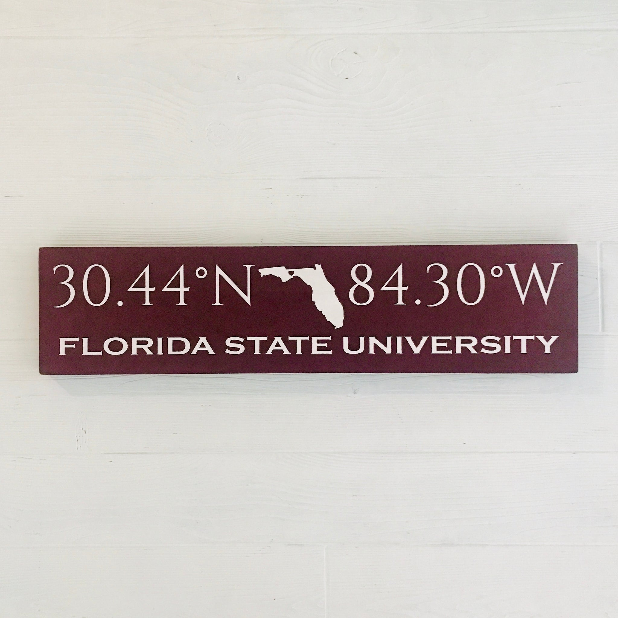Collegiate Coordinates Handcrafted Wooden Sign