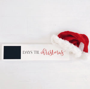 Countdown to Christmas Handcrafted Wooden Sign