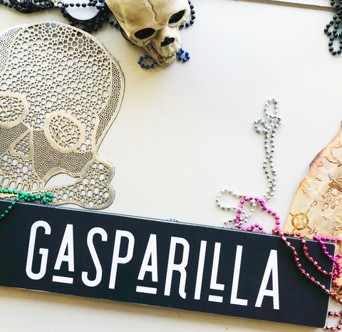 Gasparilla Handcrafted Wooden Sign
