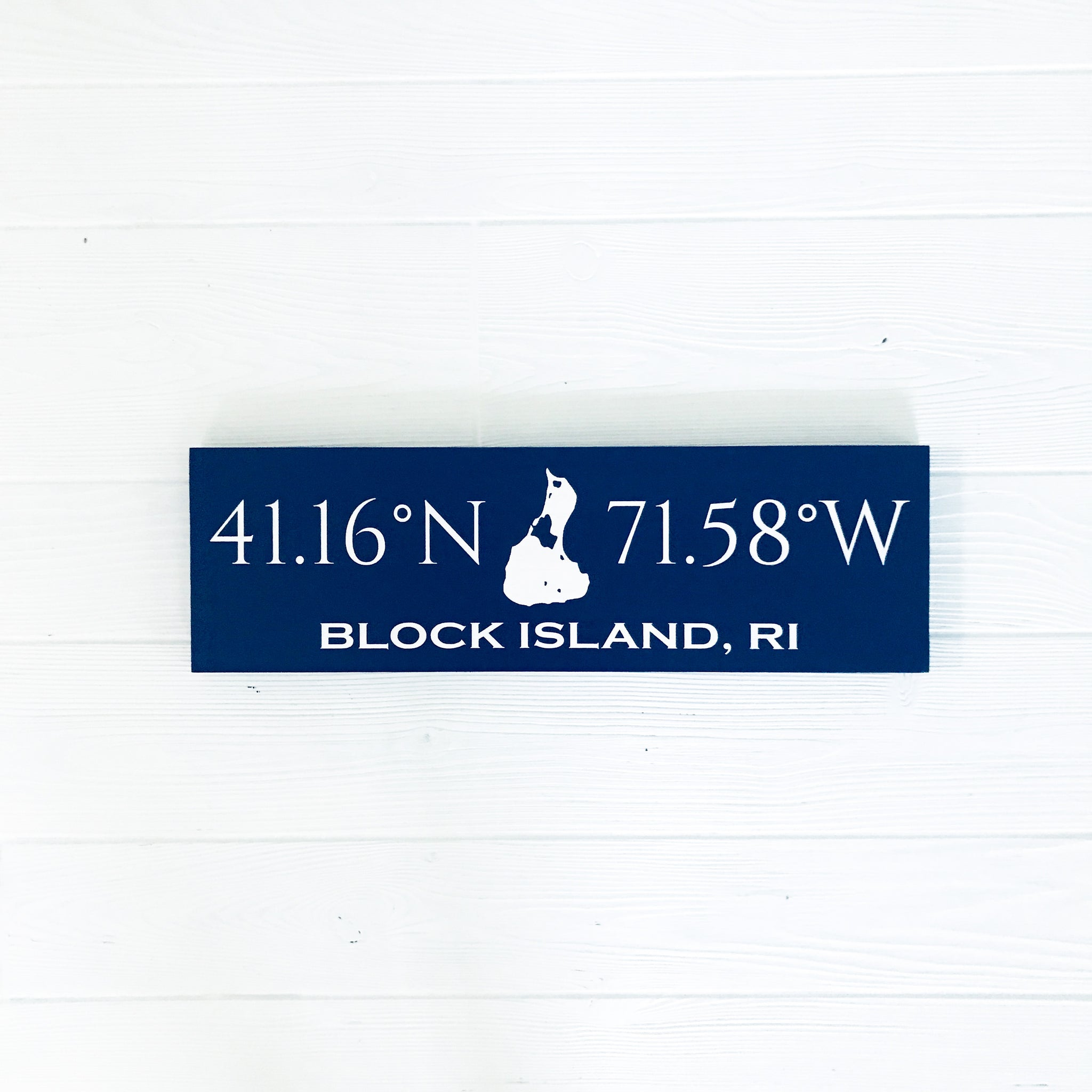 Custom Coordinates Handcrafted Wooden Sign - Medium