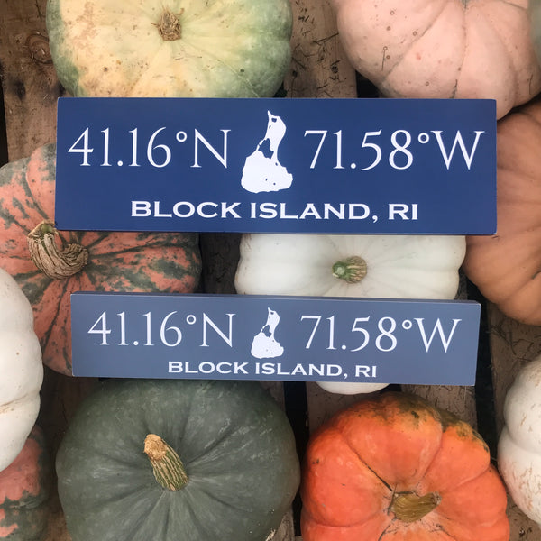 Custom Coordinates Handcrafted Wooden Sign Block - Small