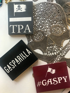 Gasparilla Handcrafted Wooden Block Signs