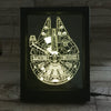 3D Millenium Falcon Photo Frame Lamp - 3D Led Lamps