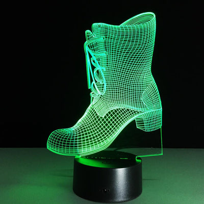 3D Boot Shoes LED Lamp - 3D Led Lamps
