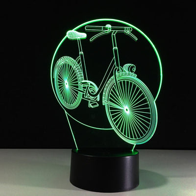 3D Bike Bicycle Illusion Lamp - 3D Led Lamps
