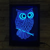 3D Owl LED Photo Frame Lamp - 3D Led Lamps