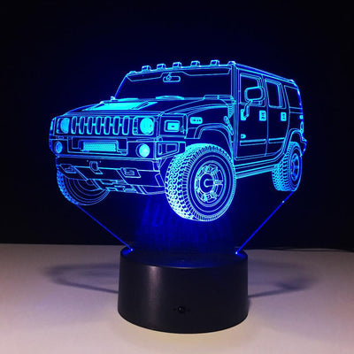 3D Cruiser Car Illusion LED Lamp - 3D Led Lamps
