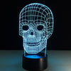 Spooky Skull 3D Illusion Lamp - 3D Led Lamps