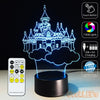 3D Castle Illusion Lamp - 3D Led Lamps