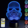 3D Storm Trooper Illusion Lamp - 3D Led Lamps