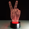 3D Victory V-sign LED Lamp - 3D Led Lamps
