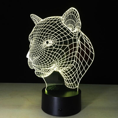 3D Leopard Illusion Lamp - 3D Led Lamps