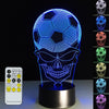 3D Skull Football LED Lamp - 3D Led Lamps