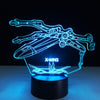 3D X-wing Starfighter LED Lamp - 3D Led Lamps