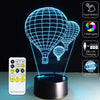3D Fire Ballons LED Lamp - 3D Led Lamps