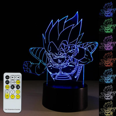 3D Goku LED Lamp - 3D Led Lamps