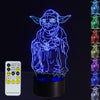 3D Posing Yoda LED Lamp - 3D Led Lamps