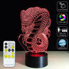 3D Devil Dragon LED Lamp - 3D Led Lamps
