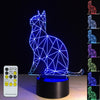 3D Lovely Cat Lamp - 3D Led Lamps