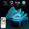 The 3D Opera House LED Lamp - 3D Led Lamps