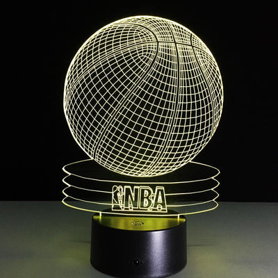 3D Basketball LED Lamp - 3D Led Lamps
