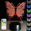 3D Butterfly LED Lamp - 3D Led Lamps