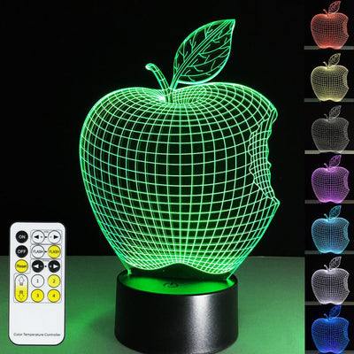 3D Apple Illusion LED Lamp - 3D Led Lamps