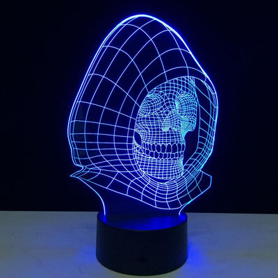 3D Spooky Skull LED Illusion Lamp - 3D Led Lamps